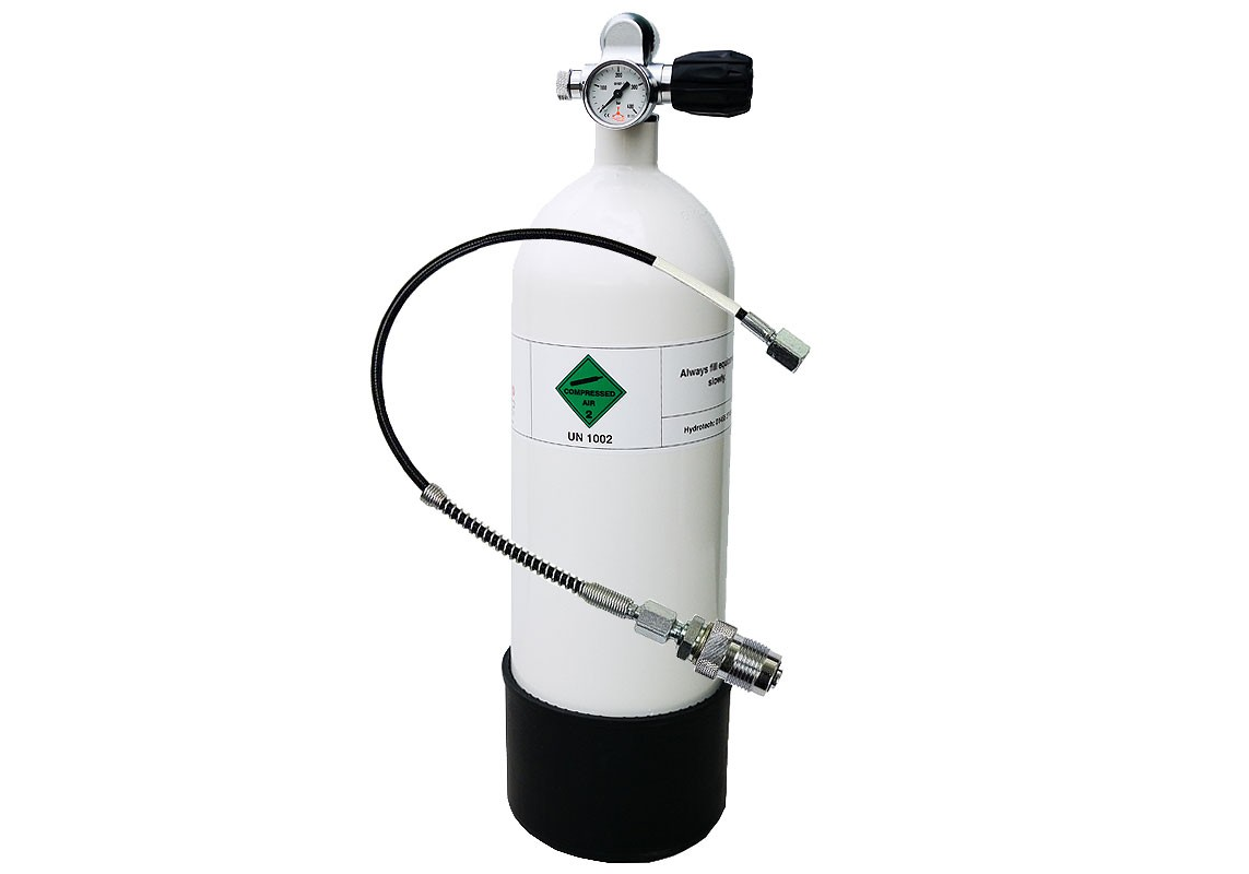 HyrdoTech PCP Surface Cylinder - Dive Tank - 300BAR - 4500PSI ***COLLECTION ONLY***